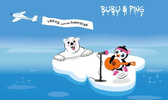 Bubu & Ping bei LikeIce sucht den SuperStar