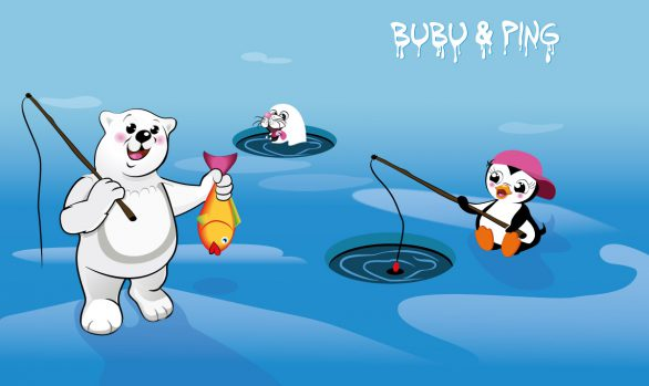 Bubu & Ping beim Fischen