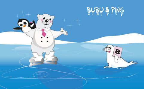 Bubu & Ping beim Eistanzen