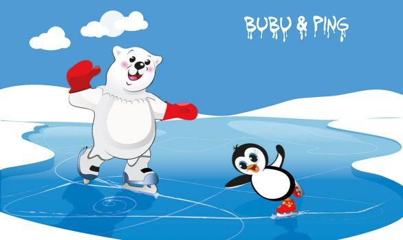 Bubu & Ping beim Eislaufen