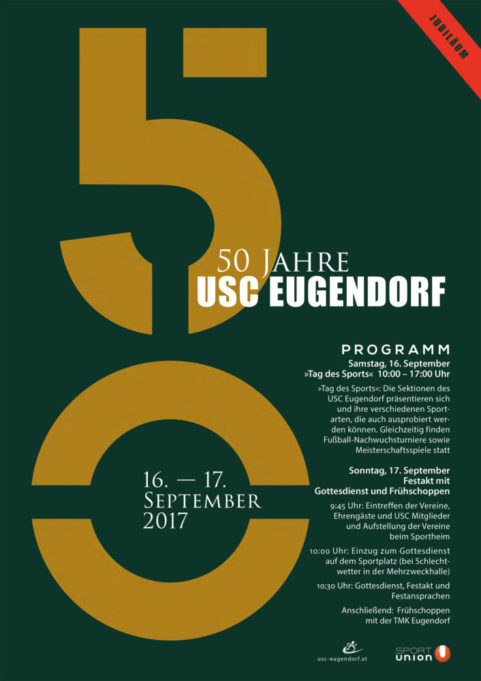 Plakat 50 Jahre Union Eugendorf